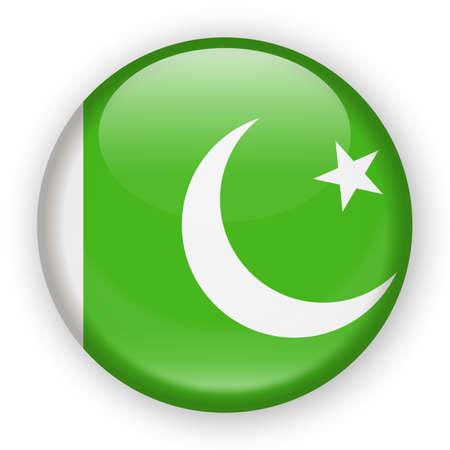 Pakistan Zealand Flag Vector Round Icon - Illustration