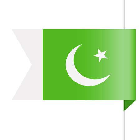 Pakistan Flag Vector Bookmark Icon - Illustration