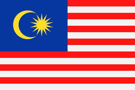 Malaysia Flag Vector Icon - Illustration