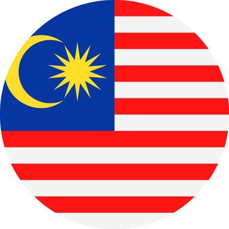 Malaysia Flag Vector Round Flat Icon - Illustration Illustration