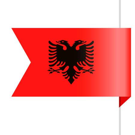 Albania Flag Vector Bookmark Icon - Illustration Illustration