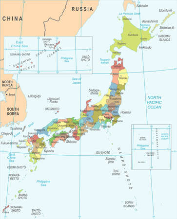 Japan Map - Detailed Vector Illustration