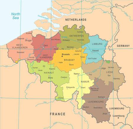 Belgium Map - Detailed Illustration