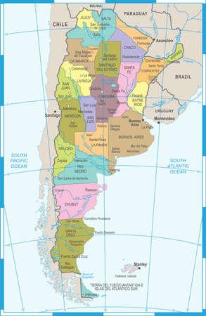 アルゼンチン地図 - 詳細図 写真素材 - 89001572