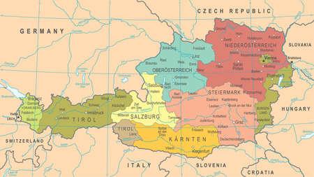 Austria Map - Detailed Illustration
