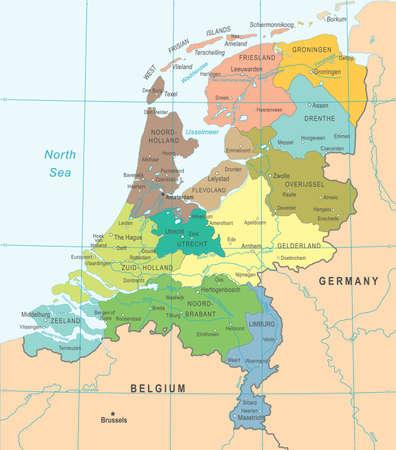 Netherlands Map - Detailed Vector Illustration