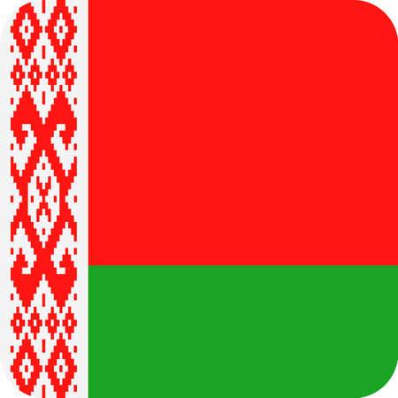 Belarus Flag Vector Square Flat Icon - Illustration Illustration