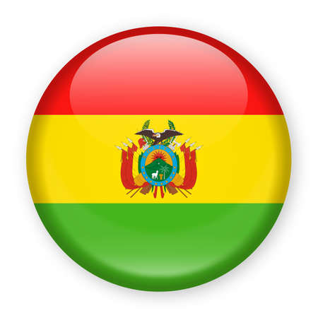 Bolivia Flag Vector Round Icon - Illustration