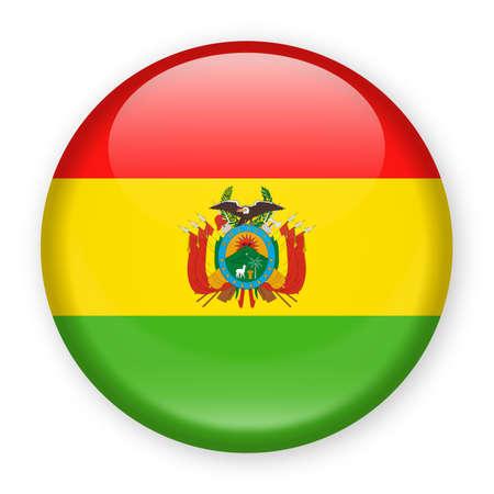 Bolivia Flag Vector Round Icon - Illustration