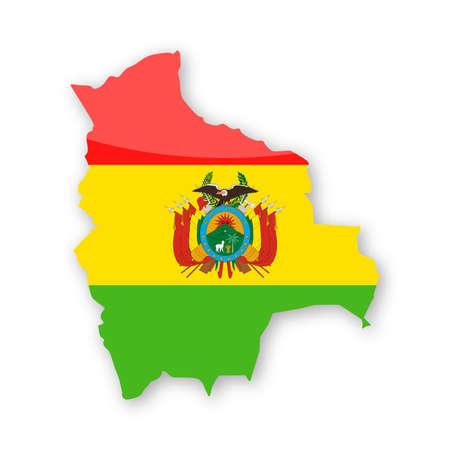Bolivia Flag Country Contour Vector Icon - Illustration Illustration