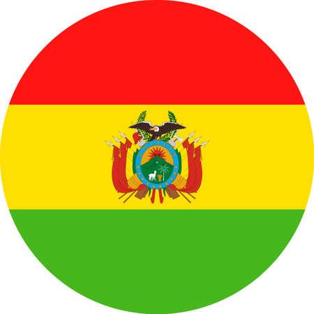 Bandera de Bolivia Vector icono plana redonda - Illustración libre de derechos