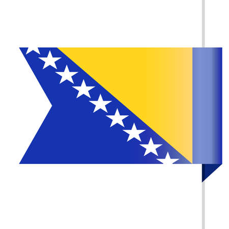 Bosnia and Herzegovina Flag Vector Bookmark Icon - Illustration Illustration