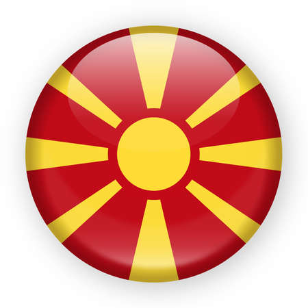 Macedonia Flag Vector Round Icon - Illustration