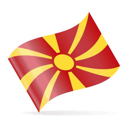 Macedonia Flag Vector Waving Icon - Illustration