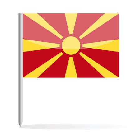 Macedonia Flag Pin Vector Icon - Illustration Illustration