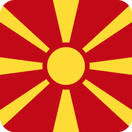 Macedonia Flag Vector Square Flat Icon - Illustration Illustration