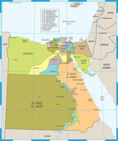 Egypt Map - High Detailed Vector Illustration