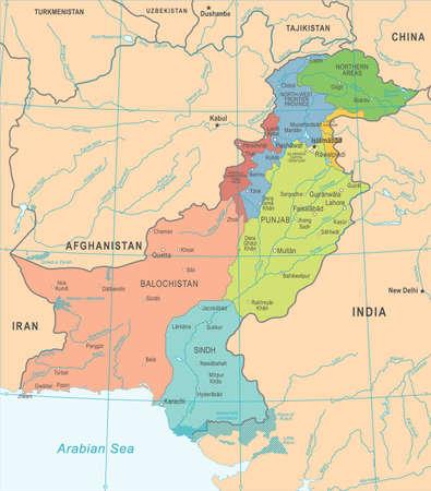 Pakistan Map - High Detailed Vector Illustration