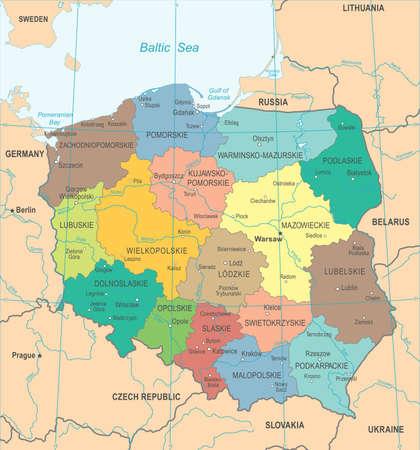 Poland Map - High Detailed Vector Illustration