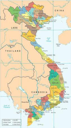 Vietnam Map - High Detailed Vector Illustration Illustration