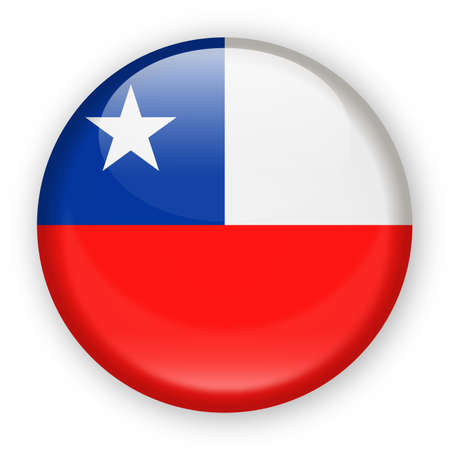 Chile Flag Vector Round Icon - Illustration