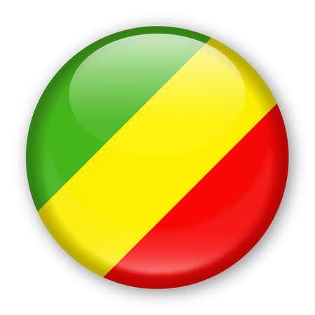 Congo Flag Vector Round Icon - Illustration