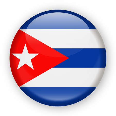 Vlag van Cuba Vector ronde pictogram - illustratie