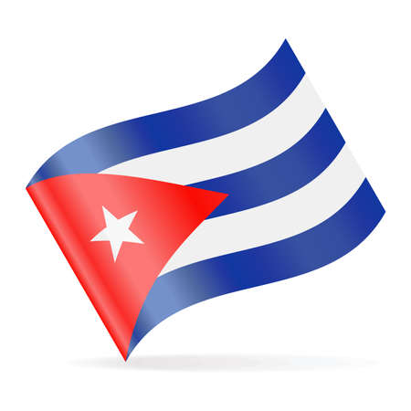 Cuba Flag Vector Waving Icon - Illustration