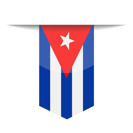 Cuba Flag Vector Bookmark Icon - Illustration Illustration