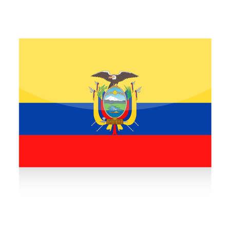 Ecuador Flag Icon Illustration