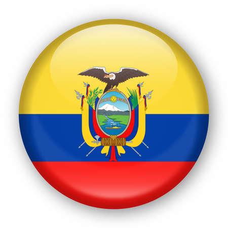 에콰도르 플래그 벡터 라운드 아이콘 - 그림