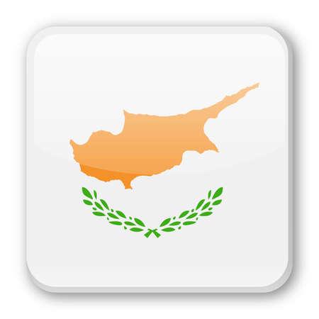 Cyprus Flag  Square Icon  Illustration Illustration