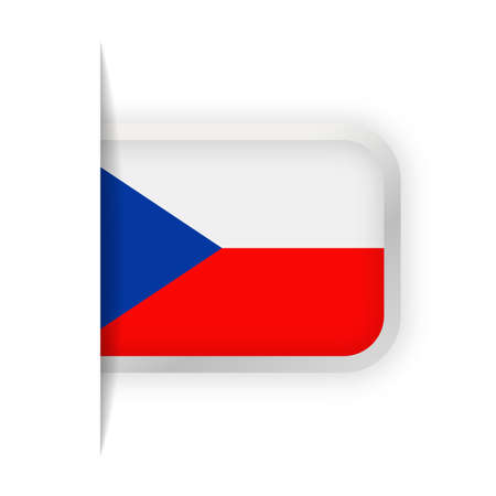 Czech Republic Flag Vector Bookmark Icon - Illustration