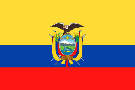Ecuador Flag Vector Icon Illustration  イラスト・ベクター素材