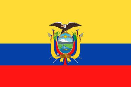 Ecuador Flag Vector Icon Illustration Stock Illustratie