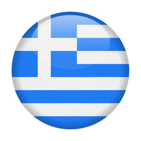 Greece flag vector icon  illustration.