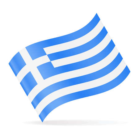 Griechenland Flagge Vektor Icon Illustration