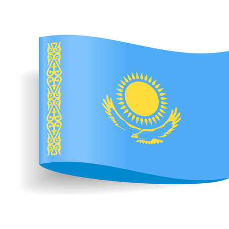 Kazakhstan Flag Vector Icon Illustration