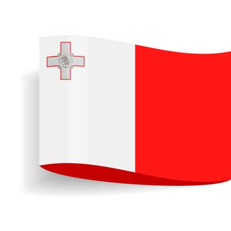 Malta Flag Vector Icon - Illustration Illustration