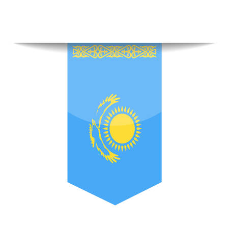 Kazakhstan Flag Vector Bookmark Icon - Illustration