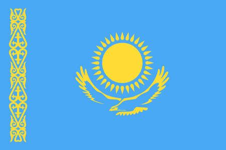 カザフスタン フラグ ベクトル アイコン - イラスト  イラスト・ベクター素材