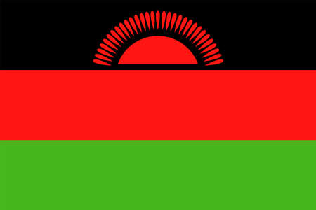Malawi flag vector bookmark icon illustration.