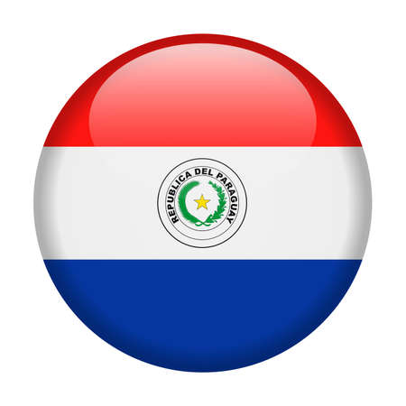Paraguay Flag Vector Round Icon - Illustration