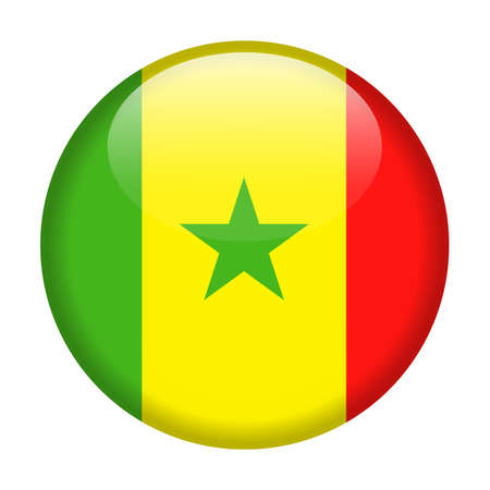 Senegal Flag Vector Round Icon - Illustration