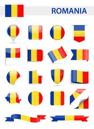 Romania Flag Set