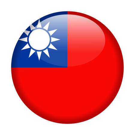 Taiwan Flag Vector Round Icon - Illustration.