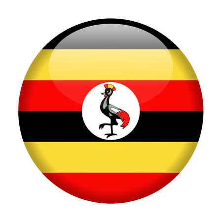 Oeganda vlag Vector ronde pictogram - illustratie