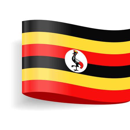 Uganda Flag Vector Icon - Illustration