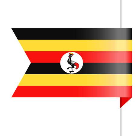 Uganda Flag Vector Bookmark Icon - Illustration