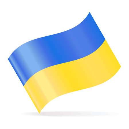 Ukraine Flag Vector Waving Icon - Illustration